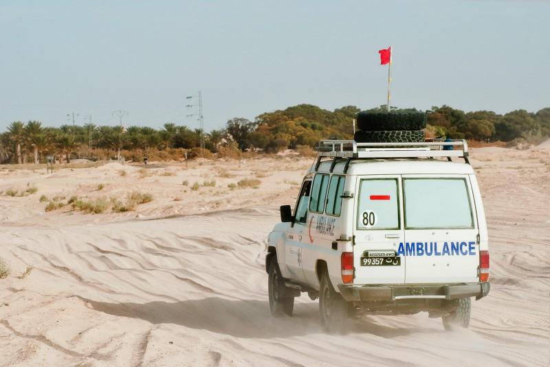 Desert ambulance