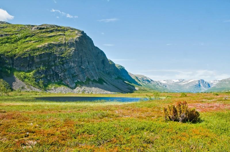 Green mountain valley