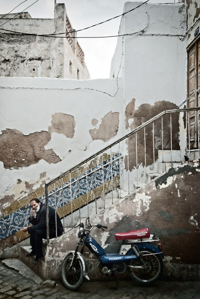 Man in stairs, Sousse