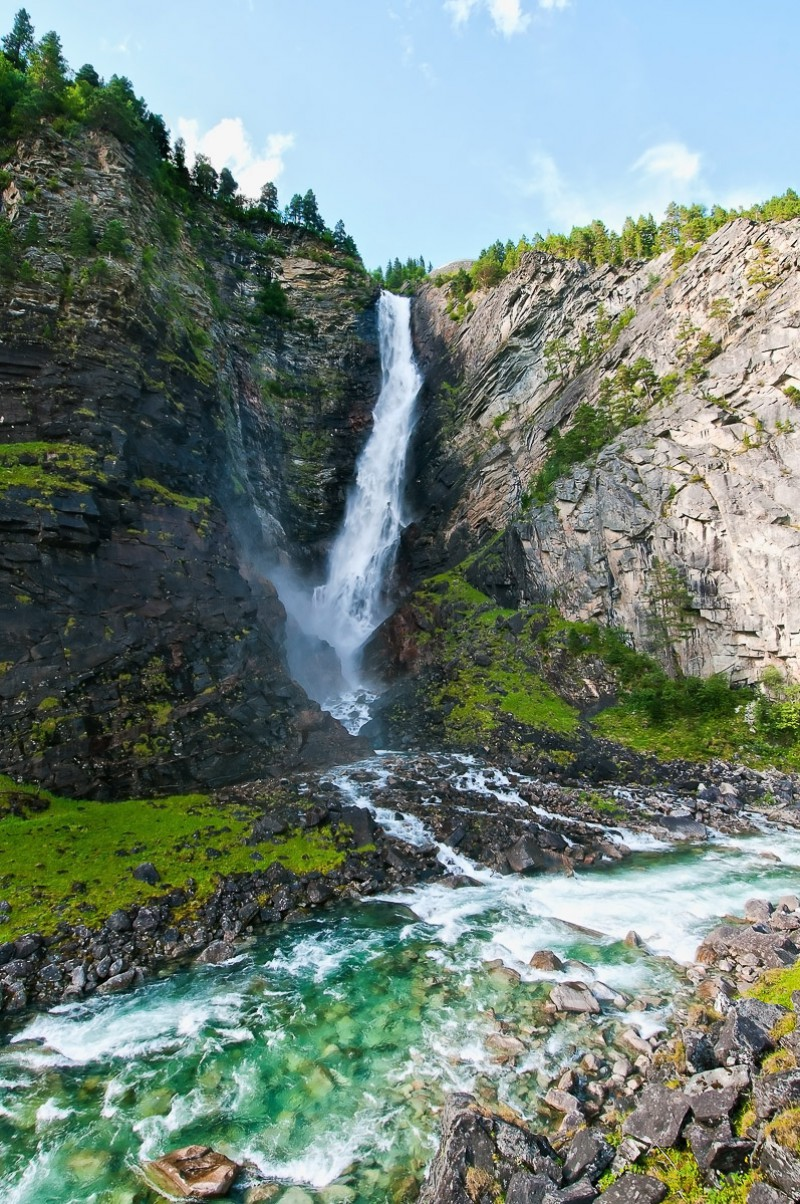 Waterfall near Gjora in Norway