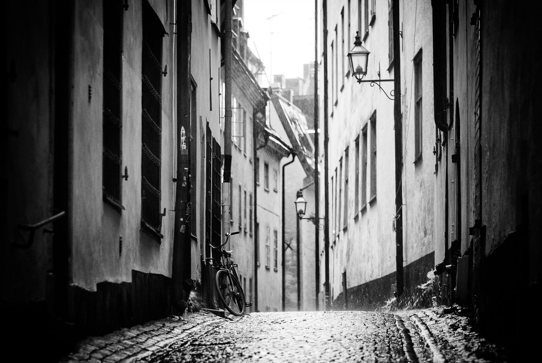 Regniga gator i Stockholm